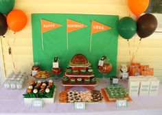 Sports party - I'm obsessed with kids birthday parties and my little guy is only 5 months old...haha