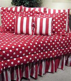 Red White Polka Dot Bedding I Love This
