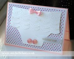 Handmade Baby Card using Stampin' Up! products - with Michelle Last