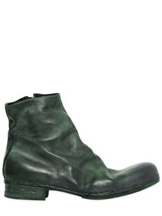 Mihara Yasuhiro - Zipped washed calf leather boots