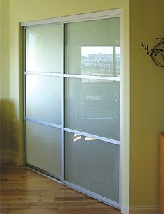 Bedroom inspiration (frosted glass, sliding, closet doors)
