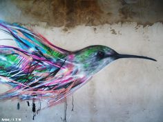 Abstract mixed in with a bird. I love how the colors interact and bring out eachother