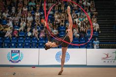 Ganna Rizatdinova (Ukraine) won gold medal in ribbon finals at World Cup (Budapest) 2015