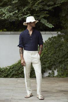 Christian Kimber X Eidos Napoli menswear lookbook sprezzatura hat