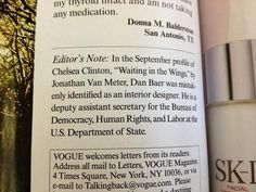 """The Best Correction From Chelsea Clinton's """"Vogue"""" Profile"""