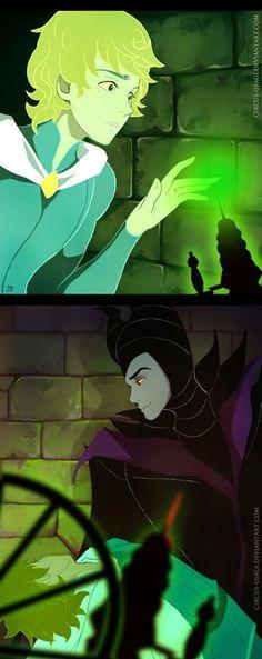 some Maleficent genderbend by circus-usagi Aurora and maleficent gender bend Disney Pixar, Arte Disney, Disney Fan Art, Disney Villains, Disney And Dreamworks, Disney Animation, Disney Cartoons, Disney Magic, Funny Disney