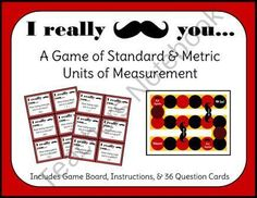 I Really Mustache You - Units of Measurement Math Game product from 2nd-Grade-Waves on TeachersNotebook.com
