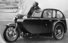 Good for the whole family: this Watsonian sidecar also seems to be very spacious inside