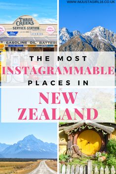 Check out the most Instagrammable places in New Zealand for the best photo opportunities to make your Instagram bang! #newzealand #hobbiton #mountcook #milfordsound #instagram