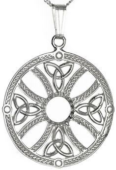 Silver Celtic Cross Knot Pendant Necklace - Pendants - Jewelry