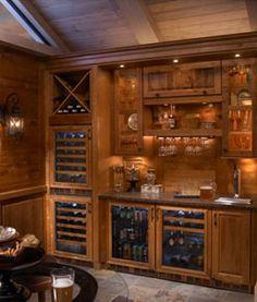 amazing bar area for a home via Perlick