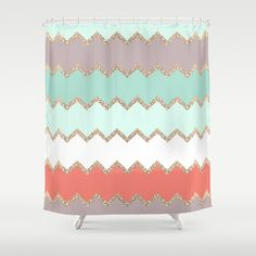 AVALON CORAL Shower Curtain by Monika Strigel - $68.00