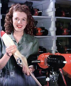 TIL in 1945 Army photography David Conover saw a young woman on the Radioplane assembly line whom he thought had potential as a model. He photographed her working on the OQ-3 model which led to a screen test for the woman who soon changed her name to Marilyn Monroe.