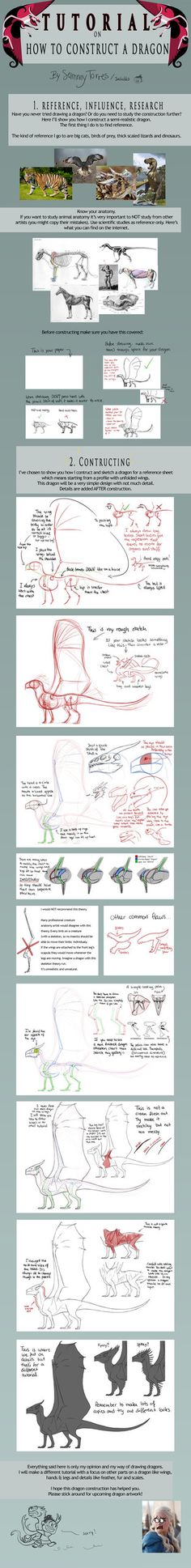 TADAA!!!Part 2 of my dragon tutorials. If you missed part 1 then follow this link: sabubba.deviantart.com/art/TUT… Upcoming is my tutorial on WINGS for DRAGONS so stick around for that (^_^)...