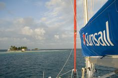 Silk Caye. Sunsail yacht in beautiful Belize. Image by Chris Stephens