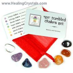 7 Chakra Tumbled Set http://www.healingcrystals.com/7_Chakra_Tumbled_Set_-_Tumbled_Stones__7pcs._.html