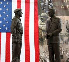 Yarborough and JFK Statue. I carried the American Flag for his retirement ceremony.