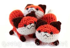 Red Fox Amigurumi Crocheted Plush Toy by GeekyCuteCrochet on Etsy