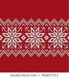Knitted Christmas and New Year pattern Cross Stitch Books, Cross Stitch Baby, Cross Stitch Flowers, Cross Stitch Charts, Cross Stitch Designs, Cross Stitch Patterns, Cross Stitch Christmas Stockings, Christmas Cross, Bead Embroidery Patterns