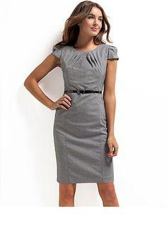 Belted Pleat Dress