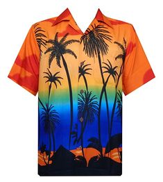 8ff0352c1 Hawaiian Shirt Mens Allover Coconut Tree Print Beach Aloha Party at Amazon  Men's Clothing store: