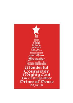 Isaiah Christmas Tree SVG Cut by MissLoriscreativecut Christmas Jesus, Christmas Svg, Christmas Shirts, Christmas Lights, Isaiah 9 6, My Favorite Color, My Favorite Things, Tree Svg, Prince Of Peace