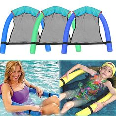 Cheap noodle chair, Buy Quality pool floating chair directly from China pool seat Suppliers: New Novelty Bright Color Pool Floating Chair Swimming Pool Seats Amazing Floating Pool Bed Chair Noodle Chair Wholesale Pool Party Kids, Summer Pool Party, Summer Beach, Floating Chair, Floating In Water, Pool Bed, Water Hammock, Pool Water, Pool Chairs