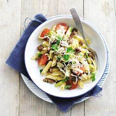 Recept - Pasta met magere rundersaucijzen - Allerhande