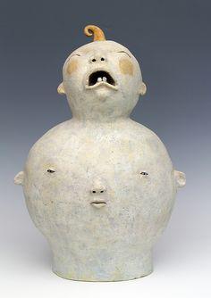 'Big Cry Baby' by Oregon-based American ceramic artist Sara Swink. via Oregon Potters on Flickr
