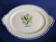 Susie Cooper Gray's Pottery Large Platter - 'Tulip' Pattern 8037 c1929