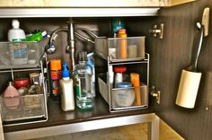 Bathroom Cabinet After Being Organized By Sort Order E Los Angeles Professional Organizers
