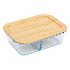 Core Kitchen   Divided 50-Ounce Glass Food Storage Container - Whether it's leftovers or taking lunch on the go, the Core Kitchen Divided Glass Food Storage Container features separate compartments within the glass bottom to store different foods. Securely attach the lid to help avoid spillage. Lunch Box Containers, Food Storage Containers, Storage Sets, Diy Storage, Glass Food Storage, Container Store, Diy Beauty, Diy Design, Sustainability
