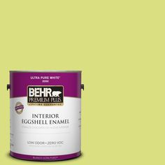 BEHR Premium Plus 1-gal. #410B-4 Carolina Parakeet Zero VOC Eggshell Enamel Interior Paint