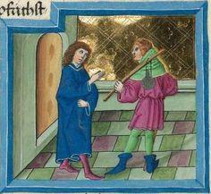 """Furtmeyr-Bibel (Deutsche Bibel """"Münchener Altes Testament""""). Band 1:  Genesis - Ruth. Cgm 8010a 1465-70, Regensburg Folio 169"""