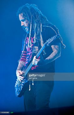 Guitarist Brian 'Head' Welch of Korn performs at PNC Music Pavilion on October 5, 2016 in Charlotte, North Carolina.