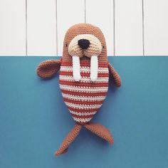 Amigurumi pattern Walrus - - New TV Series Amigurumi patte . Amigurumi pattern Walrus - - New Series Amigurumi pattern Walrus - - my # A. Crochet Kawaii, Crochet Doll Pattern, Crochet Bear, Crochet Patterns Amigurumi, Cute Crochet, Amigurumi Doll, Crochet Animals, Crochet Dolls, Crochet Stitches