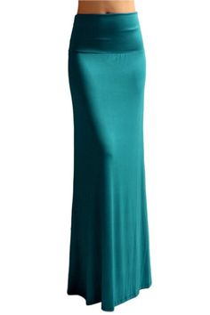 Amazon.com: Azules Women'S Rayon Span Maxi Skirt - Solid: Clothing
