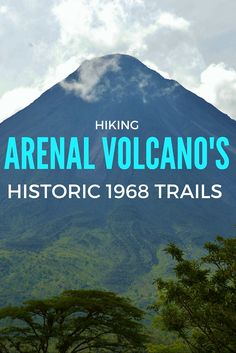 Get up close to an active volcano! Arenal 1968 Trails offer easy to moderate hiking through former lava fields from Arenal Volcano's last big eruption in 1968.