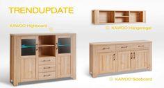Kawoo - zum Beispiel, Highboard: Edelbuche Nachbildung - 2 Türen - 2 offene Fächer - 3 Schubladen -  Produktnummer: 862546-105-01-215