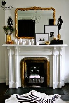 The Bene Blog, stunning mantle display with a classic color palette