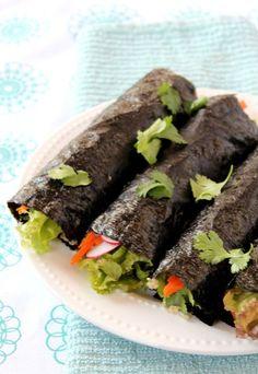 Spicy Veggie Nori Wrap 3, Taste of Healthy Goodness