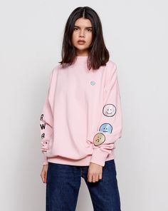 Lazy Oaf Moody Faces Sweatshirt - Clothing - New In - Womens