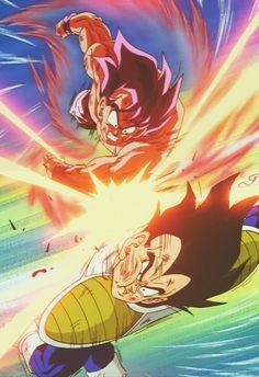 Goku vs Vegeta The Saiyan Saga Dragon Ball Z 1990 Goku Y Vegeta, Goku Vs, Son Goku, Dragon Ball Z, Geeks, Manga Dragon, Z Arts, Fan Art, Anime Art