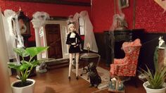 the entrance hall, drawing room of Collinwood Drawing Room, Fashion Dolls, Poppies, Action Figures, Scale, Creative, Home Decor, Dollhouses, Dioramas