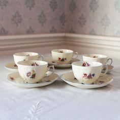 Set of 5 Floral Effenbalm Rosenthal Demi Tasse Tea by scdvintage, $60.00