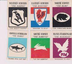 Scanlens 1968 / 1969 Rugby League Cards NRL / ARL in Sporting Goods, Sports Trading Cards, Rugby League (NRL) Cards   eBay!