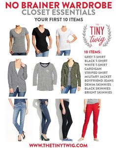 No Brainer Wardrobe ESSENTIALS (the first 10 pieces) @Matty Chuah tiny twig can dress me every day please.