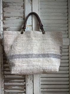 Image of Basic Bag { SBB-Chanvre.02-7} Diy Purse, Linen Bag, Denim Bag, Fabric Bags, Shopper Bag, Cute Bags, Prada Bag, Beautiful Bags, Handmade Bags
