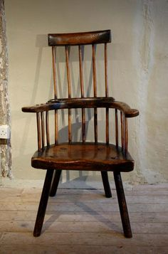 Primitive stick chair, ash with a sycamore seat, Welsh, mid -18th century