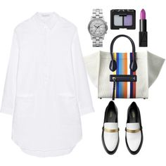 """""""J.W.Anderson Classic Oxford cotton mini shirt dress"""" by mazkool on Polyvore"""